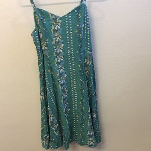 Teal/Turquoise dress with beautiful flowers